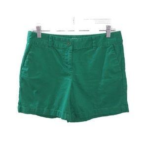 Ann Taylor Loft Green Original Cotton Shorts